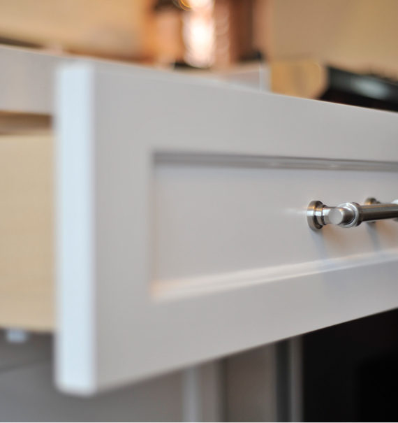 an open drawer